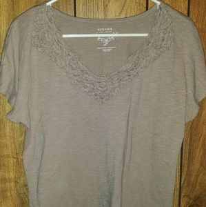 Sonoma short sleeve brown size L